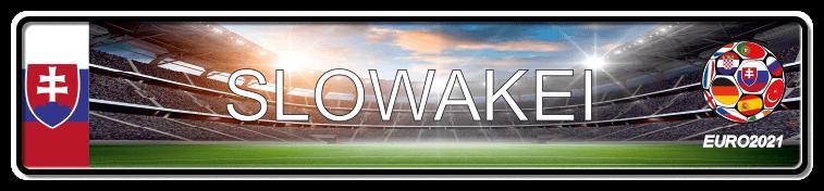 Funschild Fußball EURO EM 2021 Slowakei, bedruckt, 520x110 mm