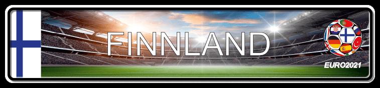 Funschild Fußball EURO EM 2021 Finnland, bedruckt, 520x110 mm