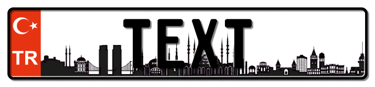 Funschild Türkei Istanbul, 520x110 mm