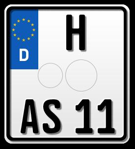 Motorrad EURO-Kennzeichen