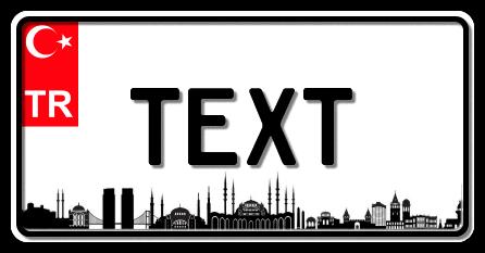 Funschild Türkei Istanbul, 300x150 mm